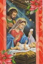 イタリア製 クリスマスカード 定型 聖家族220-4