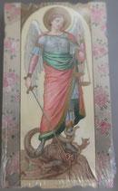 イタリア ご絵 Eucaristina 大天使ミカエル St.Michele 007 10.7×6センチ 飾り縁箔押し 紙裏白