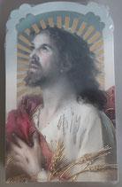イタリア ご絵 CLARA 2 12.5×7.5センチ 大判飾り縁箔押し 紙裏白