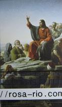 ご絵  クラシカル イエスの説法 神の国  12×7㎝ 紙裏白