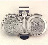 アメリカ  バイザークリップ 米陸軍 聖マイケル US.Army St. Michael Visor Clip