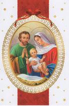 イタリア製 クリスマスカード 定型 聖家族 200-8