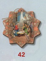 FB NATALE イタリア製 オーナメント 聖家族 741-42 7.5×10センチ
