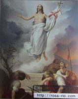ご絵 大 イエスの復活 20×25㎝ 紙裏白