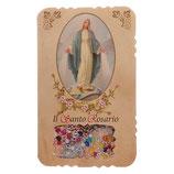 イタリア 聖母とのロザリオ奇跡のメダルリーフレットミステリー