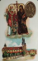プラカード8,3×5,3センチ svate Cyril a Metodej apostole a ucitele Slovanu 聖シリルとメトディウス、ソロモン・ブラザーズ 12