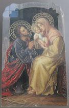 イタリア ご絵 CLARA 18 12.5×7.5センチ 大判飾り縁箔押し 紙裏白