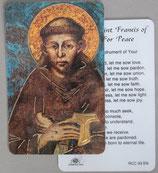 イタリア プラ箔押しカード RCC 93  8.3×5.5センチ 裏面英語祈り