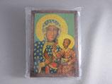 ヤスナグラの聖母 卓上合板 9×6.5センチ