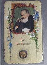 サンジョバンニロトンド 聖ピオ神父 祈りカード聖ピオメダイつき ポーランド語