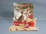 封筒つき 立体クリスマスカード 小 キャットクリスマス TR218