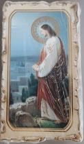 イタリア ご絵 VINCH Jetzemani13 12.2×6.7センチ 大判飾り縁 箔押しエンボス加工 紙裏白