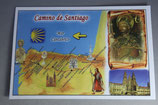 サンチャゴ デ コンポステーラ 巡礼の道絵はがき A