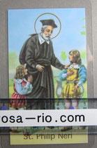 イタリア パウチご絵  聖フィリップ ネリ  11、5×7センチ