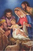 イタリア製 クリスマスカード 定型 聖家族とひつじかい 220-12