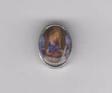 ロザリオパーツ カトリックセンター08071 楕円パーツ ポンペイの聖母 7×10ミリ 厚み4ミリ