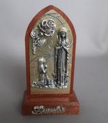 ネコポス不可 フランス ルルド 卓上ご絵 1909-88