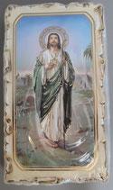 イタリア ご絵 VINCH San Giuda18 12.2×6.7センチ 大判飾り縁 箔押しエンボス加工 紙裏白