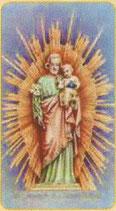 イタリア FBご絵 SERIE400 157 聖父子 5.5×10センチ 紙 OPP(透明袋)入り