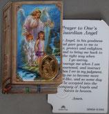 イタリア プラ箔押しカード GENOA聖書型 10 守護の天使 8.5×5.5センチ 裏面英語祈り