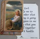 イタリア プラ箔押しカード GENOA聖書型 17  8.5×5.5センチ 裏面英語祈り