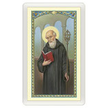 パウチカード イタリア 2399 Santino San Benedetto Orazione ITA 10x5