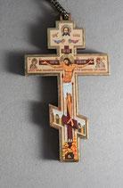 掛け下げ用 正教会十字架 C 8.5×5.3センチ 紐15㎝