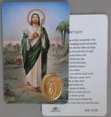 イタリア プラ箔押しカード RCC 79 聖ユダ タダイ  8.3×5.5センチ 裏面英語祈り