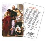 イタリア 神の聖ヨハネ-メダル付き積層祈りカード  メダイつきカード 英語祈り