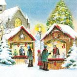 ヨーロッパ高級紙ナプキン クリスマスマーケット 611425