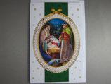 イタリア製 クリスマスカード 定型 聖家族と三賢人 C1616