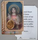 イタリア プラ箔押しカード GENOA聖書型 1 みこころのイエス 8.5×5.5センチ 裏面英語祈り