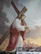 ご絵 大 十字架を担うイエス 紙裏白 20×25㎝