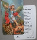 イタリア プラ箔押しカード RCC 133  8.3×5.5センチ 裏面英語祈り