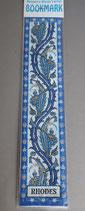 欧州 布製刺繍しおり RHODES 22.5×5センチ 布しおり 1912-5