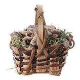 カタツムリのバスケット、DIYのキリスト降誕のための本当のh。5cm