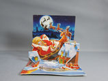 封筒つき 立体クリスマスカード 小 サンタが行くよ TR119
