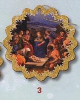 FB NATALE イタリア製 オーナメント 聖家族 1383-3 9×9センチ