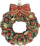IMPULS A2797RB  Christmas Wreath やどりぎぼんぼんリース