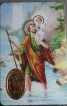 プラカード8,3×5,3センチ 聖クリストファー  9