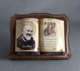 サンジョバンニロトンド 聖ピオ神父卓上ご絵 聖書型 7×5センチ
