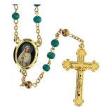 ファティマ8 ご出現の聖母ロザリオ Devotional rosaries Apparitions rosary in green wood beads 6 mm - Faith Collection 8/47