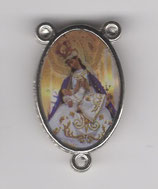 ロザリオセンターメダイ カトリックセンター08056 両面 聖母子 枠内20ミリ 縁まで23ミリ
