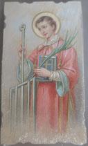 イタリア ご絵 Eucaristina 聖ロレンツォ St.Lorenzo 006 10.7×6センチ 飾り縁箔押し 紙裏白