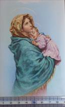 ご絵 手判 聖母子G C-52 14×9センチ 紙裏白