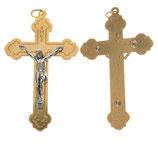 イタリア RO019081 銀のボディ金の十字架