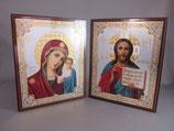 イコン旅行用 カザンの聖母とイイスス教授2面6016-6