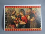 イタリア製 クリスマスカード 定型 聖家族と三賢人 0801-1