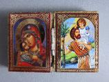 ブルガリア正教会 イコン2つ折り ミニi板ご絵  6×4センチC