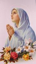 聖母マリア 祈りB 薔薇と百合
